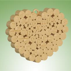 Descargar modelos 3D Corazón Feliz Navidad, 3dgregor
