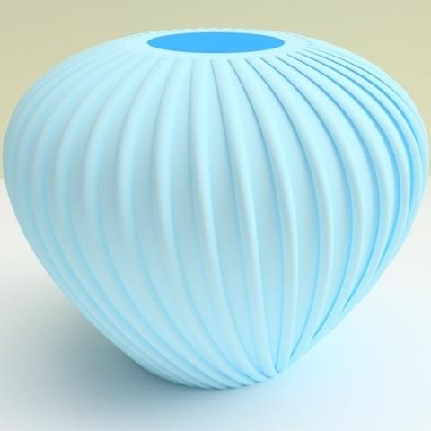 """vase crozon bleu.jpg Download STL file flowervase """"sea series"""" 3dgregor • 3D printer template, 3dgregor"""