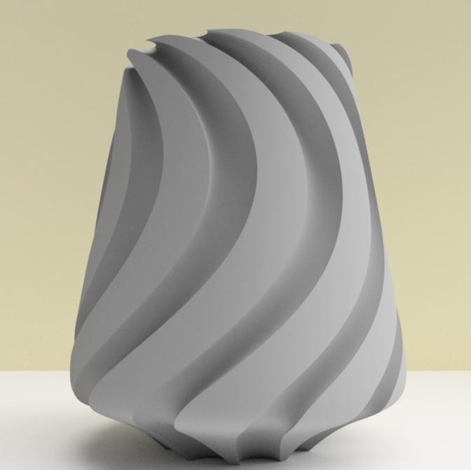 """vase lille gris.jpg Download STL file SWEETWAVE"""" vase 3dgregor • 3D print design, 3dgregor"""