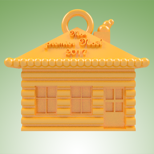 maison MPN 2017.png Download STL file House in sugar MPN • 3D printable design, 3dgregor