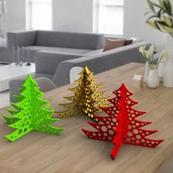 deco-de-table-noel-3-carre.jpg Télécharger fichier OBJ christmas tree deco 3dgregor • Design imprimable en 3D, 3dgregor