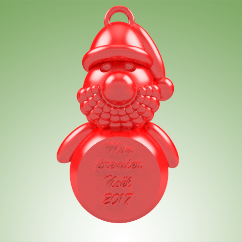 pere noel MPN 2017.png Download STL file Santa Claus MPN • 3D printer design, 3dgregor