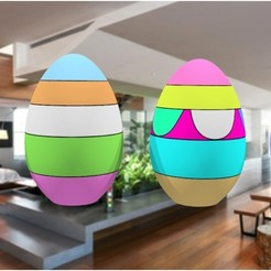 Download STL eggs to decorate 3dgregor, 3dgregor