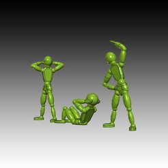 serie-sport---3-personnages.jpg Download STL file Série de mouvement de sport • 3D printing object, 3dgregor