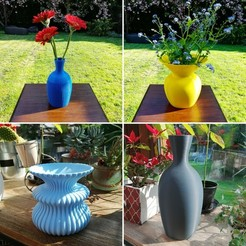 "IMG_20190424_120123.jpg Download OBJ file 4 Vases ""Ento, Eva, Zarb, Evalisse"" vases • 3D printer model, 3dgregor"