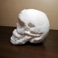 Download 3D printing models Mexican skull, 3dgregor