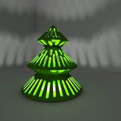 3D printing model candleholder christmas tree, 3dgregor