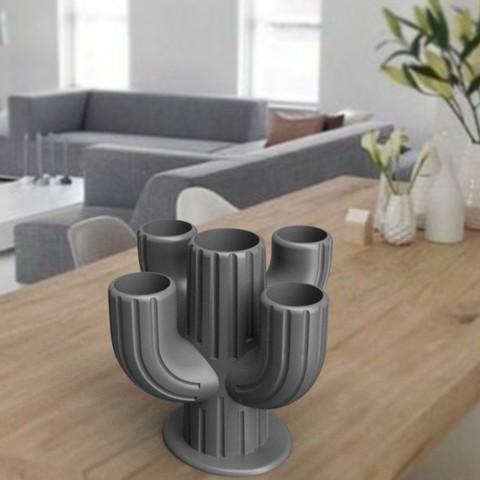 """3D printing model Vase """"cactus"""" 3dgregor, 3dgregor"""