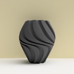 """Download 3D printer files TURBULENTWAVE"""" vase 3dgregor, 3dgregor"""