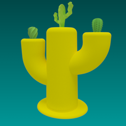 3D print files Cactus pot, 3dgregor