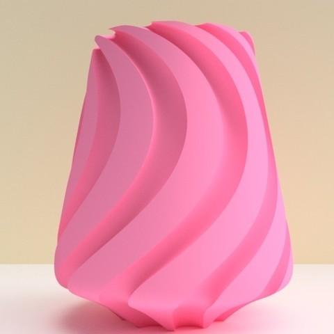 """vase lille rose.jpg Download STL file SWEETWAVE"""" vase 3dgregor • 3D print design, 3dgregor"""