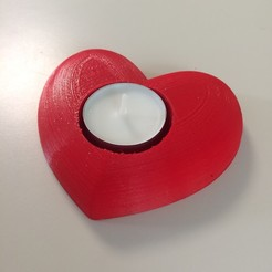 "3D printer files Candle holder ""Valentine's Day"" 3dgregor, 3dgregor"