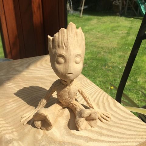 Free stl Baby Groot, gregor