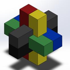 5.PNG Download free STL file 3D Puzzle/Puzzle Puzzle • 3D print model, RaphyGalibar