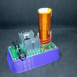 Descargar archivo 3D gratis Soporte para el módulo de bobina de bricolaje Banggood Mini Tesla, loiseaucreatif