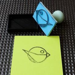 loiseaucreatif-InkStamp-IMG3.jpg Télécharger fichier STL gratuit loiseaucreatif - Timbre à encre logo • Modèle pour imprimante 3D, loiseaucreatif