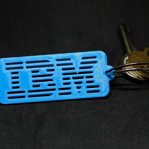 Download free 3D printing templates IBM Keychain, loiseaucreatif