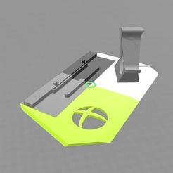 base Xbox One X.JPG Download free OBJ file Xbox One X stand + joystick • 3D printer object, Helvete