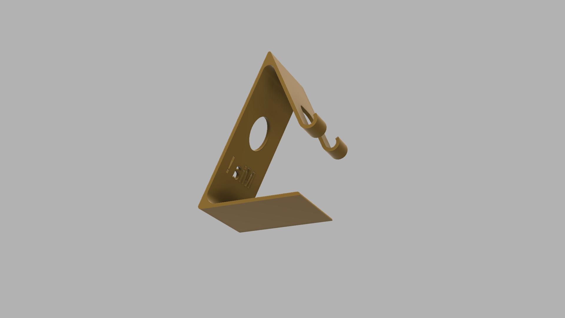 Sup_Mia v1.png Download free STL file Phone Holder • Model to 3D print, RachidAliOsinachi