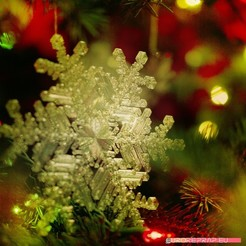 STL files Real snowflake - Christmas Tree decoration - size: 128mm, euroreprap_eu