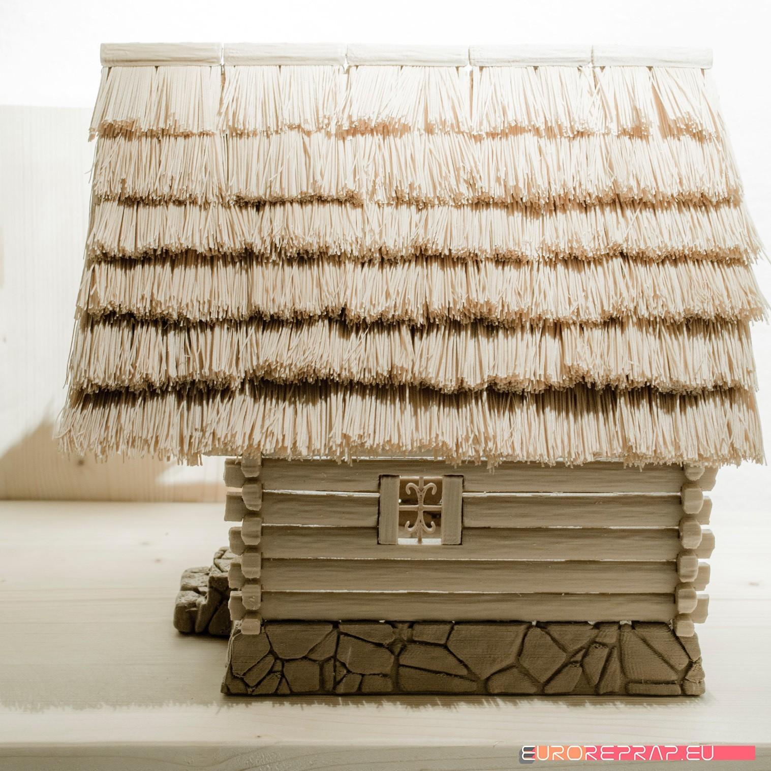 P07.jpg Download STL file 3D printed house - log cabin - cottage • 3D printable template, euroreprap_eu