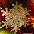 STL files Real snowflake - Christmas Tree decoration - size: 128mm, euroreprap_eu