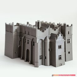 3D printing model Medieval-renaissance castle - no supports needed, euroreprap_eu