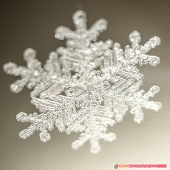 STL files Real snowflake - Christmas Tree decoration - size: 65mm, euroreprap_eu