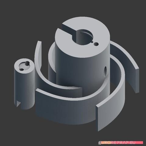 Free STL files Holder for traditional E10 bulb, euroreprap_eu