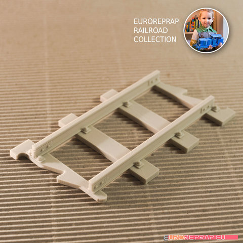 Download 3D model Straight Track (No1A) - Euroreprap Railroad System, euroreprap_eu