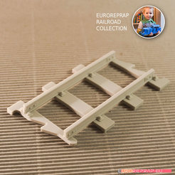 STL files Straight Track (No1A) - Euroreprap Railroad System, euroreprap_eu