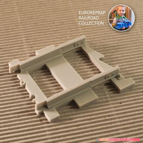 "04.jpg Download free STL file LEGO to ""Euroreprap Railroad System"" track adapter • 3D printing template, euroreprap_eu"