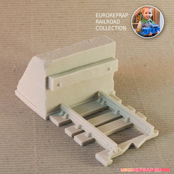 Buffer Stop track for Euroreprap Railroad System 3D model, euroreprap_eu