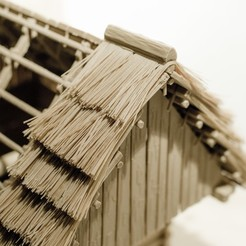 Download STL file Straw roof thatching system for log house, cabin, cottage, etc., euroreprap_eu