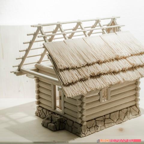 P02.jpg Download STL file 3D printed house - log cabin - cottage • 3D printable template, euroreprap_eu