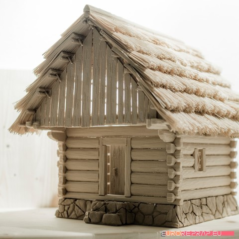 P06.jpg Download STL file 3D printed house - log cabin - cottage • 3D printable template, euroreprap_eu