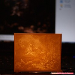 "3D print model Christmas decor - ""Angels Announcing the Birth of Christ to the Shepherds"" by Govert Flinck, euroreprap_eu"