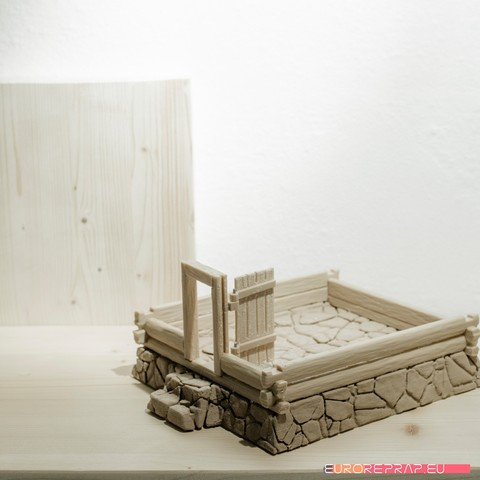P04.jpg Download STL file 3D printed house - log cabin - cottage • 3D printable template, euroreprap_eu