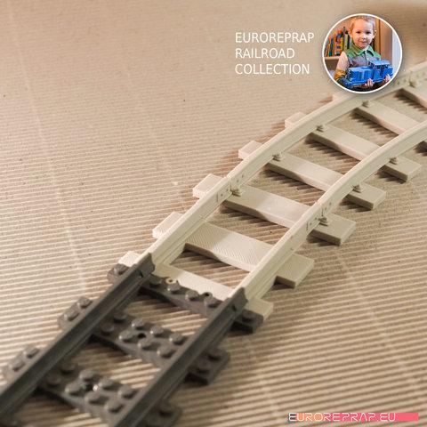 "02.jpg Download free STL file LEGO to ""Euroreprap Railroad System"" track adapter • 3D printing template, euroreprap_eu"