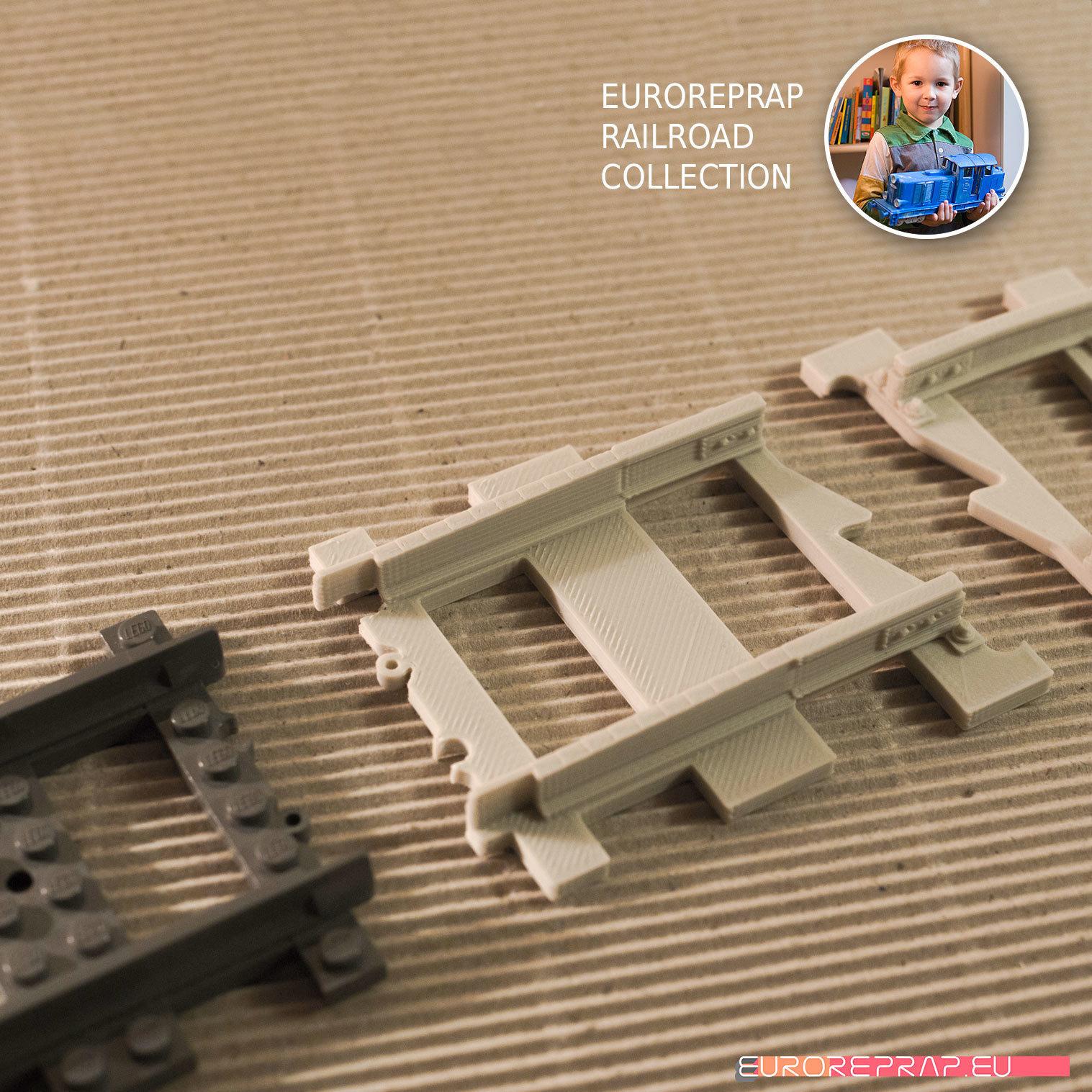 "03.jpg Download free STL file LEGO to ""Euroreprap Railroad System"" track adapter • 3D printing template, euroreprap_eu"