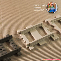 "Free 3D printer files LEGO to ""Euroreprap Railroad System"" track adapter, euroreprap_eu"