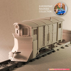 Download 3D printing models Snow Plow-01 carriage for Euroreprap Railroad System, euroreprap_eu