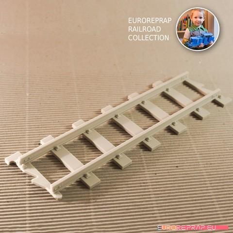 3D printer files Straight Track - long (No1) - Euroreprap Railroad System, euroreprap_eu