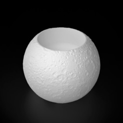 3D printer file Moon CandleHolder, siSco