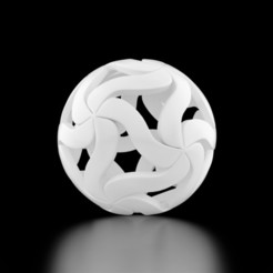 Download STL file Pendant Flower Ball • 3D print model, siSco
