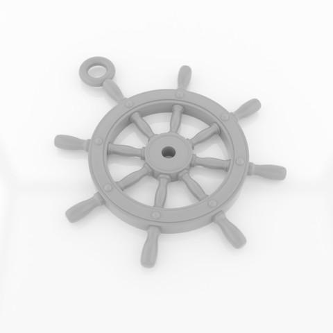 Download STL file Ship'sWheel Pendant • 3D print design, siSco
