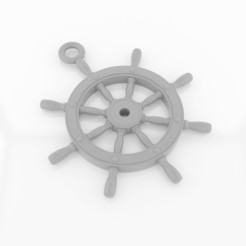 Download 3D printing designs Ship'sWheel Pendant, siSco