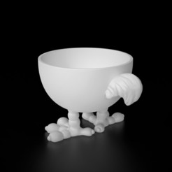 3d model Chicken EggCup, siSco