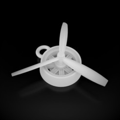 AirplanePropeller Pendant STL file, siSco
