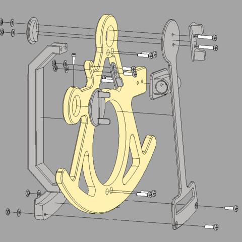sextantass.PNG Télécharger fichier STL Sextant • Design à imprimer en 3D, Ufon